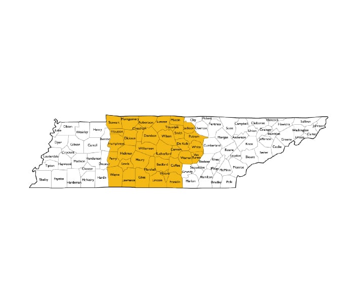 Middle TN for Crawlspace encapsulation
